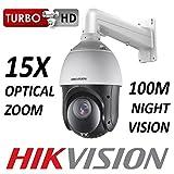 HIKVISION PTZ CCTV Dôme 2MP 1080P CMOS 15X OPTIQUE 1920 X 1080 HD-TVI CVBS BNC 100M Vision nocturne TURBO EXTÉRIEUR AVEC SUPPORT MURAL DE SUPPORT DE MONTAGE (DS-2AE4215TI-D DS-1602ZJ/WALL)