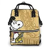 Bolsa de pañales-Cool Snoopy Mommy Baby Bag, multifunción de gran capacidad de viaje mochila bolsa de pañales