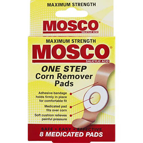 Mosco One Step Medicated Corn Remover Pads, Maximum Strength, 8-Count per Pack, (1-Pack)