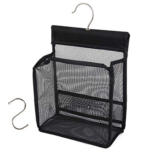 FishMM Hanging Mesh Shower Caddy College with Hooks, Bath Baskets...