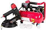 3PLUS HCB050401 18-Gauge Brad Nailer and Quiet Air Compressor Combo kit