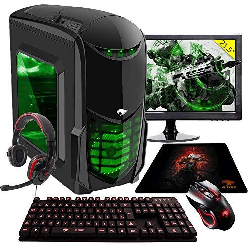 Pc G-fire Amd A10 9700 8gb 1tb Monitor 21 Radeon R7 2gb integrada Computador Gamer Evb-mk Htg-138