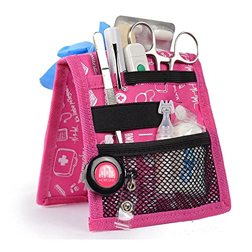 Salvabolsillos , Keen's , Mobiclinic , Para bata o pijama , Diseño exclusivo con estampados en color rosa , Amo la enfermería