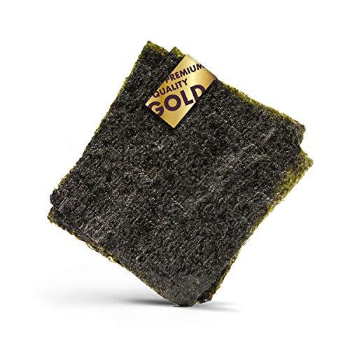 Reishunger Alga Nori para Sushi en Calidad de Oro 140g (50 H