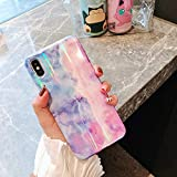 Cocomii Holographic Marble iPhone XS Max Case, Slim Thin Glossy Soft Flexible TPU Silicone Rubber Gel Shiny Gradient Reflection Fashion Bumper Cover for Apple iPhone XS Max 6.5 Inch 2018 (Blue/Purple)