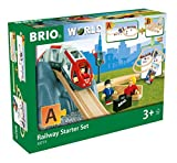 BRIO World - 33773 Railway Starter Set   26 Piece Toy Train with Accessories and Wooden Tracks for Kids Age 3 and Up