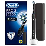 Oral-B Pro 2 2500 Spazzolino Elettrico Ricaricabile, 1 Spazzolino con Sensore di Pressione dello Spazzolamento Visibile, 1 Testina, 1 Custodia da Viaggio