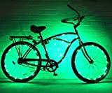 N&M Products (2 Pack) GlowRiders - Ultra Bright LED - Bike Wheel Light String - Assorted Colors Bicycle Tire Accessories- Burning Man (Green)