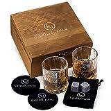 Whiskey Stones Gift Set w/ 8 Granite Whiskey...