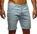 Leif Nelson Herren Jeans Shorts LN1398; W33; Mint