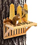 Squirrel Feeders for Outside - AIMUCT Squirrel Picnic Table Feeder, 3 Corn Cob Holders,...