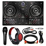Hercules DJContorl Inpulse 300 Controller + Headphones + Microphone + Premium Accessory Bundle