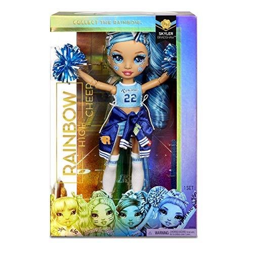 Image 1 - Rainbow High Poupée Mannequin Majorette. Vêtements élégants et pompons. Skylar Bradshaw, Poupée Thème Bleu. Rainbow High Serie, cadeau parfait pour les filles 6 ans et plus