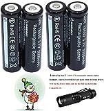 4-Pack1865O Rechargeable 3.7V Batterie + Torche Lampe de Poche Led Kit 003