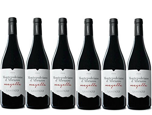 Vino Rosso Montepulciano d'Abruzzo D.O.C. 2018 Cantine'LAMPATO' Colline Pescaresi - Abruzzo - Italy - Box da 6 Bottiglie da 0,75 lt.