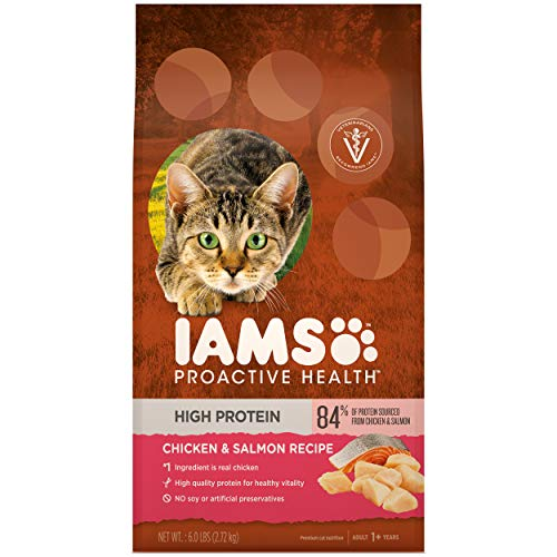 Iams Proactive Health High Protein Adult Cat Food with Chicken & Salmon