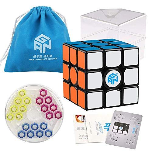 Coogam Gans 356 Air SM Speed Cube 3x3 Black Gan 356Air S Magnetic Puzzle Cube...