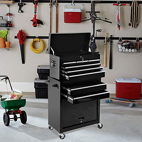 Product Image 3: 8-Drawer Tool Chest Tool Box,High Capacity Rolling Tool Chest Tool Storage Cabinet with 4 Wheels, 2 in 1 Large <a href=
