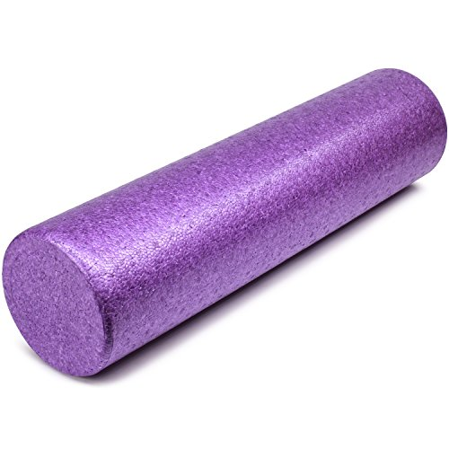 Yes4All ETHR EPP Exercise Foam Roller – Extra Firm High Density Foam Roller – Best for Flexibility and Rehab Exercises (24 inch, Purple)
