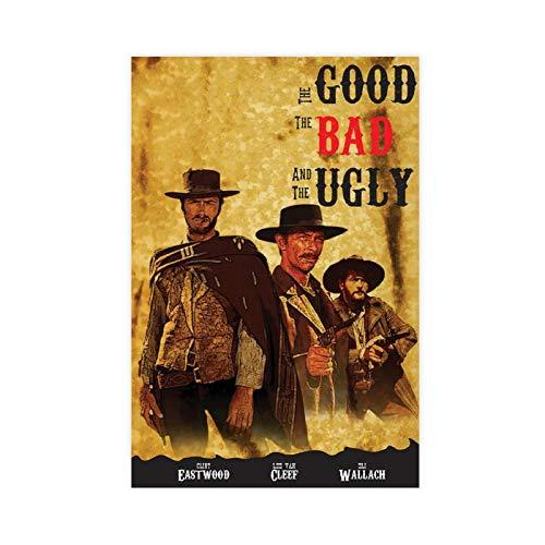 Filmposter The Good The Bad And The Ugly Clint Eastwood, 1 x Leinwand-Poster, Schlafzimmer, Dekoration, Sport, Landschaft, Büro, Raumdekoration, Geschenk, 50 x 75 cm, ohne Rahmen: