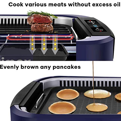 Product Image 4: Indoor Grill Electric Grill Griddle CUSIMAX Smokeless Grill, <a href=