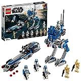 LEGO Star Wars Clone Trooper della Legione 501 Walker AT, BARC Speeder e Droidi da Battaglia, Set di Costruzioni, 75280