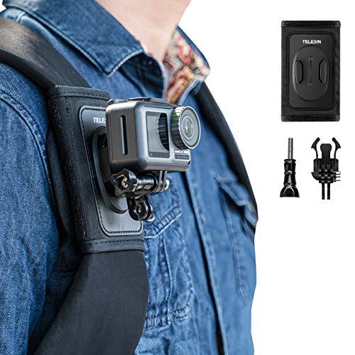 TELESIN - Supporto per tracolla per fotocamera, spalliera regolabile e supporto per cinghia per GoPro Hero/Fusion/Session, Polaroid, Xiaomiyi, SJCAM