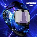 JSungo True Color Welding Helmet Large View Screen, Luminous Auto Darkening Welding Hood Solar Powered, Hemispherical 4C Lens, 4 Arc Sensor Variable Shade Range 4~5/9-9/13 for TIG MIG Arc Welder Mask