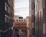 Kpoiuy Pintar por NúMeros DIY Edificio De La Calle SeñAlizacióN Vial Cielo DecoracióN De La Boda De La Lona Imagen del Arte Regalo 40 * 50CM Sin Marco