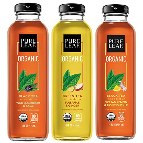 Pure Leaf, Organic Iced Tea Variety Pack, 14oz Bottles (Pack...
