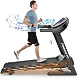 Famistar Treadmill with 15% Auto Incline for Home, Smart Shock-Absorbing System 300LB Weight-Capacity 12 Programs Running Machine, Easy Assembly&Space Saving for Home Office Workout