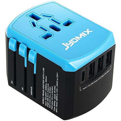 Adaptateur de chargeur de voyage Universel Tout-En-Un avec 3 USB Type-A et...
