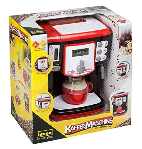 Idena 40453 - Macchina da caffè per la casa con Diverse funzioni, Effetti Luminosi e Toni, Circa 15 x 27 x 28 cm, per Bambini, per Imparare Le abilità pratiche in Cucina, Funzionamento a Batteria