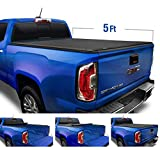 Tyger Auto Black T1 Soft Roll Up Truck Tonneau Cover for 2019-2020 Chevy Colorado/GMC Canyon Fleetside 5'2' Bed TG-BC1C9052