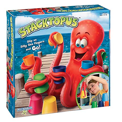PlayMonster Stacktopus--Slip on Silly Sea Fingers and Go!--Kids Game