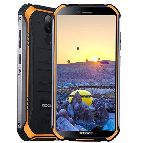 Rugged Smartphone Unlocked,4GB 64GB Android 10.0 DOOGEE S40 Pro (2020),4G Dual SIM IP68/IP69K Waterproof Mobile Phones,5.45 inches Dispaly 4650mAh Battery, Face/Fingerprint ID NFC OTG GPS (Orange)