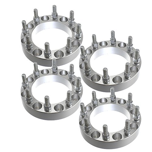 4 PC 8x170 | 2 Inch Thick | 14x2.0 (Coarse) Studs Heavy Duty Wheel Spacers Fits Ford F250 F350 Excursion