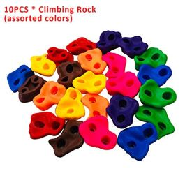 10pcs/Set Climbing Rocks. Plastic Climbing Stones Holds & Grips, for Climbing Frames, Tree Houses and Kids Climbing Walls
