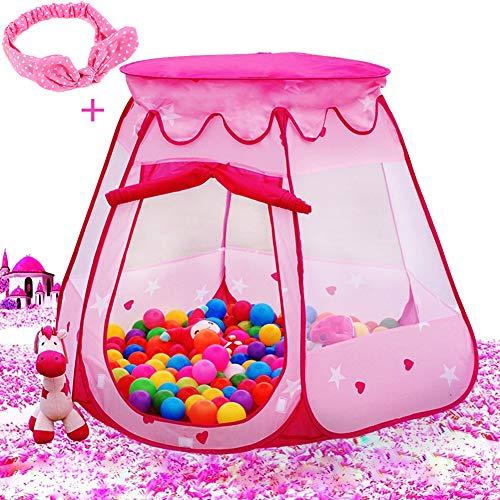 Le Papillon Pink Princess Tent Kids Ball...