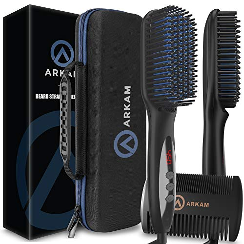 7. Arkam Beard Straightener for Men