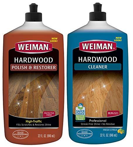 Weiman Hardwood Floor Cleaner & Polish Restorer Combo - 2 Pack