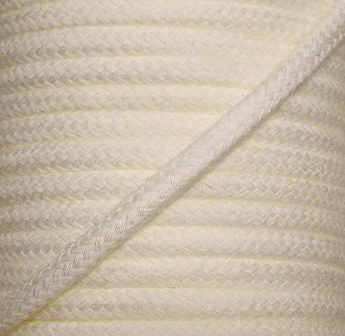 5 m Baumwollkordel 8 mm Creme/weiß