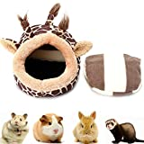 Nest Chaud Hamster léger Cochons d'Inde Lit Nid Rongeur d'hiver Animaux Lit (Girafe, S) 1pc