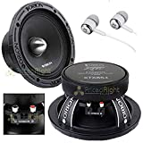 Orion XTX854 8' 1600 Watts High Efficiency Midrange Mid Range Bass Loud 4 Ohm Car Audio Speakers Pair with Free Alphasonik Earbuds