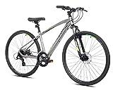 700c Giordano Brava Hybrid Comfort Bike, Small, Silver