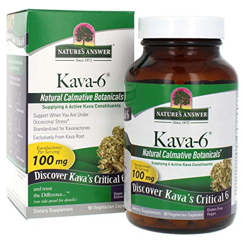 Nature's Answer Kava-6 Vegetarian Capsules