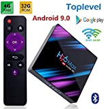 YPSMWXG H96 Max HD Network Player Android 9.0 4GB + 32GB TV Box, H.265 Decoding 2.4GHz / 5GHz WiFi Smart Network TV Box, Home Theater