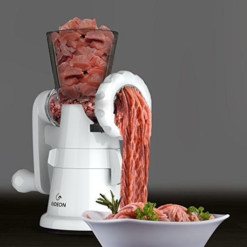 Gideon Hand Crank Manual Meat Grinder Heavy Duty...