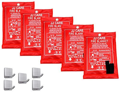 JJ CARE Fire Blanket Fire Suppression Blanket, Fire Blanket Kitchen, Fire Emergency...