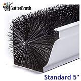 GutterBrush Simple Gutter Guard | for Standard 5' Gutters | Easy, No Tools DIY Gutter Leaf Guard (60 Ft.)